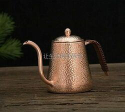 1pcs 0.6l Copper Tea And Coffee Drip Kettle Pot Hot Water For Barista