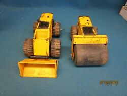 Tonka Front End Loader And Steam Roller Used