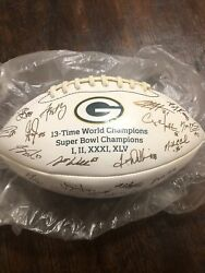 Green Bay Packers Football Collectors Series Autographed Print Full Team