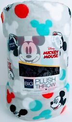 The Big One Disney Mickey Mouse Oversized 5and039x6and039 Plush Throw Blanket