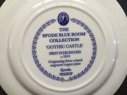 The Spode Blue Room Collection Gothic Castle Dinner Plate England