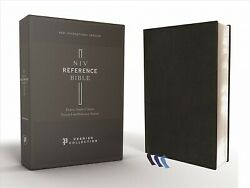 Holy Bible New International Version, Reference Bible, Black, Deluxe Single...