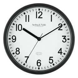 8.78quot; Basic Indoor Black Analog Round Modern Wall Clock 3 Color Option