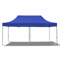 Commercial Pop Up Canopy Tent 10x20 Instant Gazebo Blue 5 Height Positions 50mm