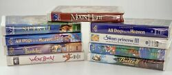 90's Kids Vhs 9 Movie Lot We're Back, All Dogs Go To Heaven And More