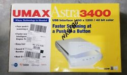 Umax Astra 3400 Flatbed Scanner 600x1200 Dpi Color New In Box
