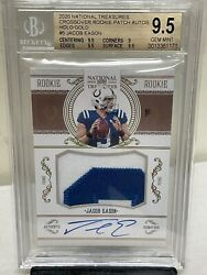 Jacob Eason 2020 National Treasures Crossover Holo Gold Rpa Rc Jersey Auto 14/25