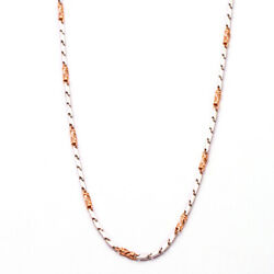 Solid 950 Platinum Classic Chains And 18k Rose Gold Chain Necklace 21 Inch 2.45mm