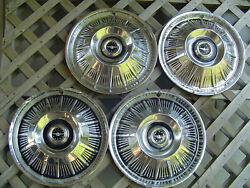Classic Vintage 1964 64 Ford T Bird Thunderbird Hubcaps Wheel Covers Center Caps