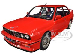 1986 Bmw E30 M3 Red 1/18 Diecast Model Car By Solido S1801502
