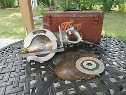 Vintage Thor Electric Worm Drive Saw 7 - Model 5759 With Box And Blades - Rare