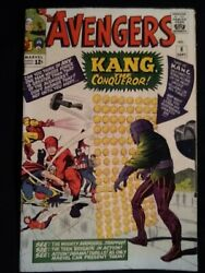 Avengers 8 Intro Kang The Conqueror Kirby Cover And Art Mid Grade Copy.