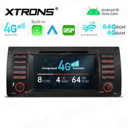 Built-in 4g 7 Android 10 Car Radio Gps Stereo Dvd Car Auto Play For Bmw X5 E53