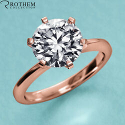 1.00 Ct Solitaire Diamond Engagement Ring Rose Gold I2 Msrp 8,800 23051115