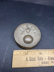Wwii Us Military Ordnance Corps Shell Flaming Bomb Army Brass Desk Paper Weight