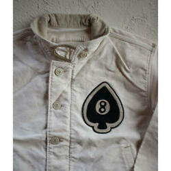 Rrl Jungle Cross Deck Jacket 8 Patch Off-white Size M From Japan