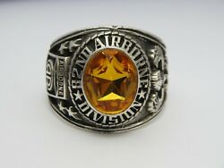 T64 ,sterling 925, 82nd Airborne Ring , Americas Guard , Army Ring,us Size 10.25