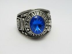 Sterling 925, 82nd Airborne Ring , Americas Guard ,army Ring,us Size 10.5, T221