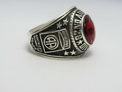 Sterling 925, 82nd Airborne Ring , Americas Guard ,army Ring,us Size 9.25, T223