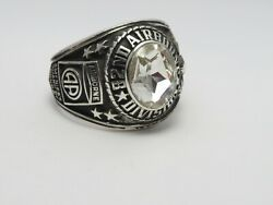 Sterling 925, 82nd Airborne Ring , Americas Guard ,army Ring,us Size 11.5, T227