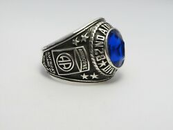 Sterling 925, 82nd Airborne Ring , Americas Guard ,army Ring,us Size 8.75, T225