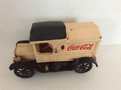 Cast Iron Vintage Coca Cola Delivery Truck Toy With Boxes And Bottles