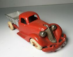 Hubley Red And Silver Studebaker Dump Truck 7
