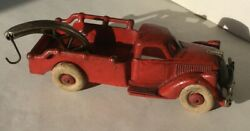 Vintage Hubley Cast Iron Red Wrecker /tow Truck 8andrdquo Arcade