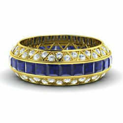 Real 14 Kt Gold 3.5 Ct. Natural Diamond Sapphire Gemstone Rings Size 5.5 4 6.1/2