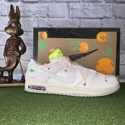 Nike Dunk Low X Off-white Shoe Summer 50 Mens Size 11.5 W 13 Lot 12 🔥🔥🐰🔥🔥
