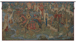 Legend Of King Arthur French Tapestry - Wall Art Hanging- Home Décor- 35x66 Inch