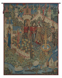 Genevieve Guenievre French Tapestry - Wall Art Hanging - Home Décor - 36x28 Inch