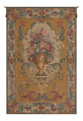 Bouquet Imperial Gold French Tapestry - Wall Art Hanging Home Décor - 80x56 Inch