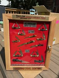Schrade Knives And Tools Uncle Henry Old Timer Store Display Case With Knifes Nos