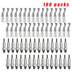 100x Dental Low Speed Handpiece Contra Angle Handpiece 4holes Air Motor Yp