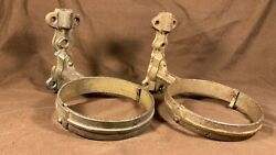 Pair Of Antique Oil Lamp Caboose Rail Road Light Oil Lamp Font Wall Mount Holder