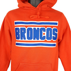 Denver Broncos Sweatshirt Hoodie Vintage 90s Nfl Football Made In Usa Size Small