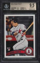 2011 Topps Update Mike Trout Rookie Rc Us175 Bgs 9.5 Gem Mint With High Subs