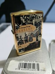 Zippo Windproof Collectible Hp Brass Lighter The Beatles Anthology 1996 New