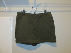 Ethereal By Paper Craneandnbspgreen Faux Suede Soft Eyelet Laser Cut Shorts Sz Medium