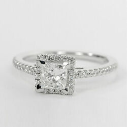 Solitaire 1.04 Ct Diamond Engagement Rings Solid 14k Gold Band Sets Size 5 6 7