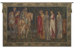 Departure Of The Knights French Tapestry - Wall Art Hanging Décor - 70x110 Inch