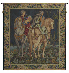 Les Chevaliers French Tapestry - Wall Art Hanging For Home Décor - 34x28 Inch