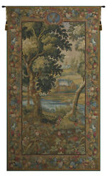 Verdure Meudon French Tapestry - Wall Art Hanging For Home Decor - 78x44 Inch