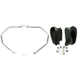 Chrome Highway Engine Crash Bar Lower Fairing Fit For Indian Chief Vintage 14-19