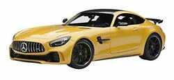 Mercedes Amg Gt R Amg Solarbeam Yellow Metallic With Carbon Top 1/18 Model Car B