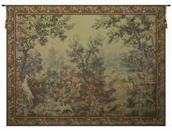 Printemps Ete With Border French Tapestry - Wall Art Hanging New- 62x86 Inch