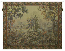 Automne Hiver With Border French Tapestry - Wall Art Hanging New- 62x86 Inch