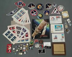 Huge Nasa Space Apollo Lot Stamps Pins Vintage Tokens Ussr Cccp