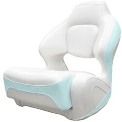 Chaparral Boat Helm Seat 31.00742   Bolster White Seafoam Green